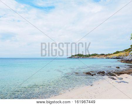 Tropical Blue Sea In Thailand