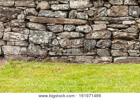 Background Wall Made Of Grey Stone Rocks