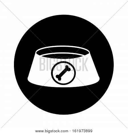 an images of Dog Bowl icon illustration design