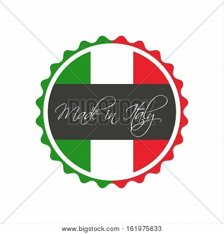 Made in Italy symbol italian sticker vector symbol isolated on a white background