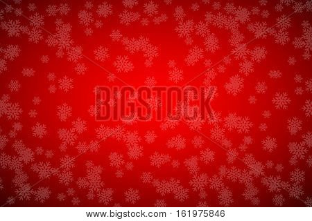 Christmas red background with snowflakes simple holiday vector background