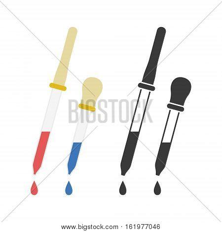 Pipette icon. Flat design. icon vector illustration