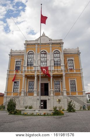 Safranbolu, Turkey - September 08, 2007: Ottoman architecture / Safranbolu Kaymakamlar Museum House. This typical Safranbolu home has all the classic features of Ottoman houses.