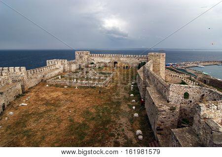 Bozcaada, Turkey - May 22, 2010 : Tenedos Fortress, Canakkale