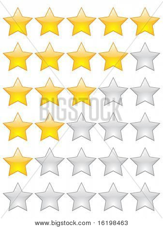 (raster image) rating stars