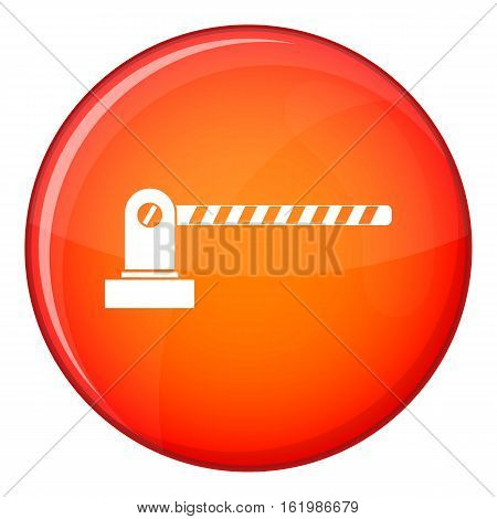 Parking barrier icon in red circle isolated on white background vector illustration