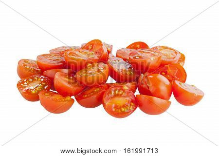 Tasty Sweet Red Tomatoes Isolated On White