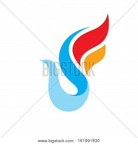 Abstract bird - vector logo template concept illustration. Wings creative sign. Design element.
