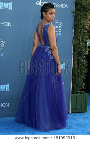LOS ANGELES - DEC 11:  Susan Kelechi Watson at the 22nd Annual Critics' Choice Awards at Barker Hanger on December 11, 2016 in Santa Monica, CA