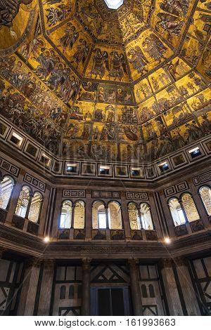 Hall Of Florence Baptistery San Giovanni