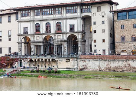View Of Uffizi Gallery From Arno River