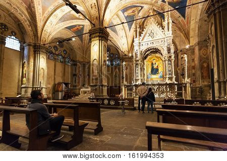 Interior Of Orsanmichele Church In Florence