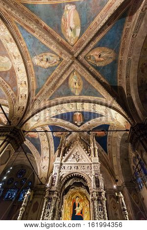 Ceiling Of Orsanmichele Church In Florence