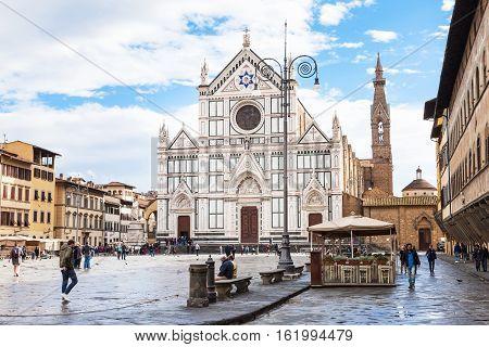 Piazza Di Santa Croce With Basilica Di Santa Croce