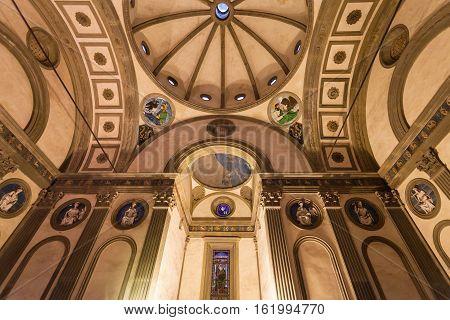 Inside Pazzi Chapel In Basilica Di Santa Croce