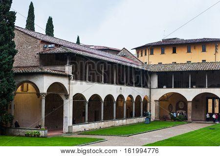 Arcade Of Cloister Of Basilica Di Santa Croce