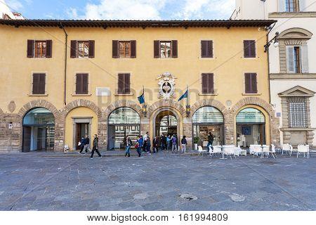 Visitors Near Doors Of Museo Dell Opera Del Duomo