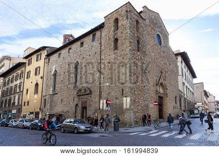 People Near Church Santa Maria Maggiore Di Firenze