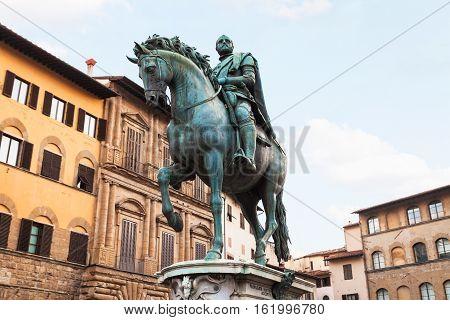 Monument Of Cosimo I On Piazza Della Signoria