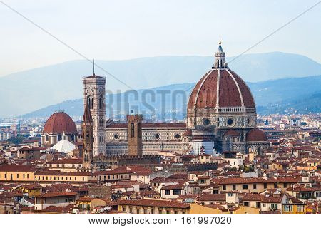 View Of Florence Cathedral Santa Maria Del Fiore