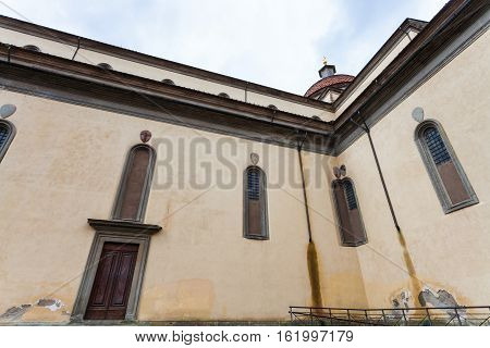 Walls Of Basilica Di Santo Spirito In Florence