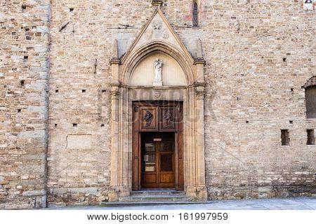 Doors Of Church Santa Maria Maggiore Di Firenze