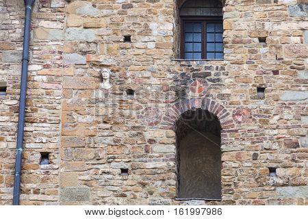 Decorated Wall Of Church Santa Maria Maggiore