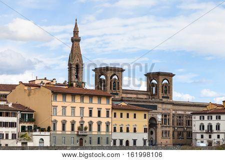 Houses On Quay Lungarno Delle Grazie Of Arno River