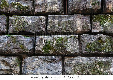 Black Stone Blocks In Wall Of Palazzo Pitti