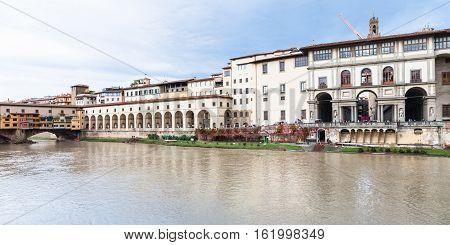 Ponte Vecchio, Vasari Corridor And Uffizi Gallery