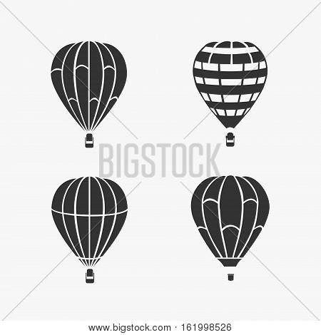 Balloon Flying Vector Set eps 8 file format
