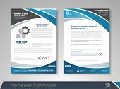 Blue annual report brochure flyer design template. Leaflet cover presentation abstract background for business magazines posters booklets banners. Layout in A4 size. Easily editable vector format. poster