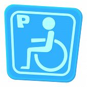 Invalid parking icon. Cartoon illustration of invalid parking vector icon for web poster