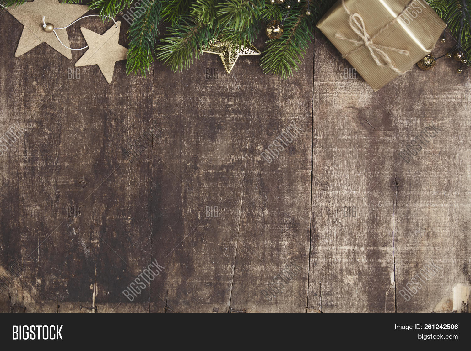 Christmas Wood Background.Christmas Theme Image Photo Free Trial Bigstock