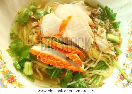 Asian style noodle with pork