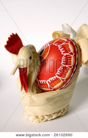Easter. Handmade souvenirs. Cock poster