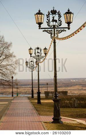 Nizhny Novgorod. Kremlin. Street lamps.
