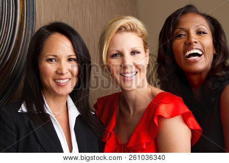 Diverse Mature Group Of Women Well Dressed.