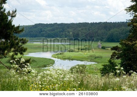 Beautiful landscape. Russia. Pskov Region.