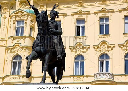Jelacic Square. City Centre, Upper Town, Zagreb, Croatia