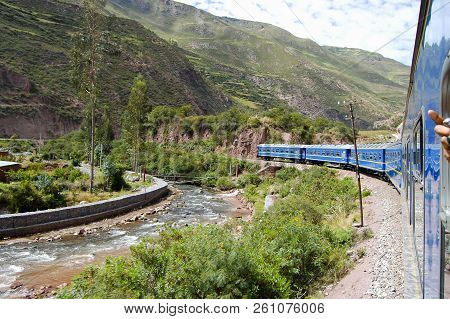 Tourist Train In Urubamba Valley - Peru