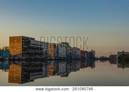 Photo Of  Picturesque Ethnographic Town Zaandaam, Reflection In River Zaan And Canaal,  Netherlands