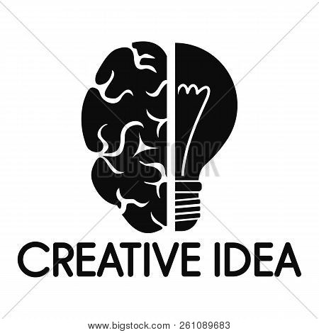 Creative Idea Mind Logo. Simple Illustration Of Creative Idea Mind Vector Logo For Web Design Isolat