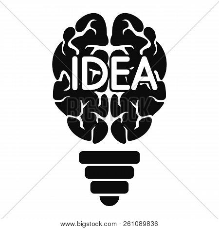 Mind Idea Logo. Simple Illustration Of Mind Idea Vector Logo For Web Design Isolated On White Backgr