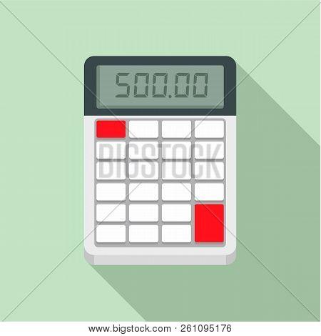 Financial Calculator Icon. Flat Illustration Of Financial Calculator Vector Icon For Web Design