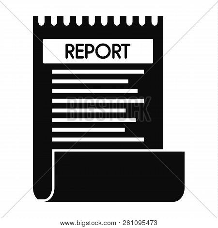 Bill Paper Report Icon. Simple Illustration Of Bill Paper Report Vector Icon For Web Design Isolated