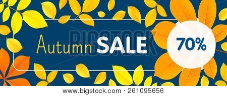 Autumn Final Sale Concept Banner. Flat Illustration Of Autumn Final Sale Vector Concept Banner For W