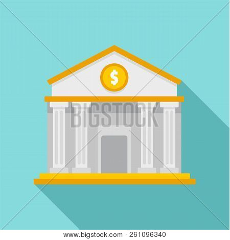Money Bank Icon. Flat Illustration Of Money Bank Vector Icon For Web Design