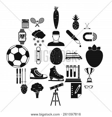 Sports Health Icons Set. Simple Set Of 25 Sports Health Vector Icons For Web Isolated On White Backg