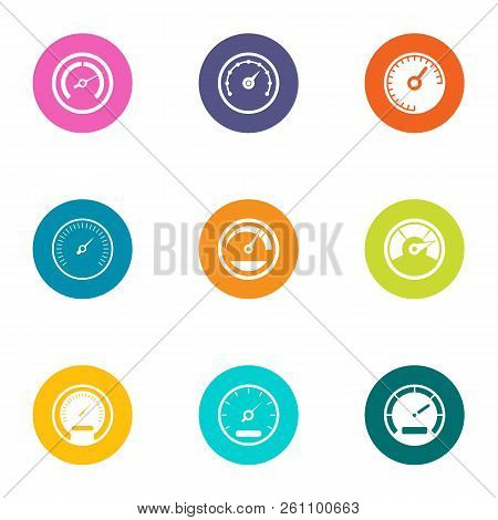 Greater Speed Icons Set. Flat Set Of 9 Greater Speed Vector Icons For Web Isolated On White Backgrou